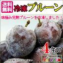 完熟 冷凍 プルーン 減農薬 長野県産 小布施 4キロ