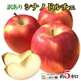 あす楽 朝どれ シナノドルチェ 葉とらず 味極み りんご 減農薬 長野県産 5キロ