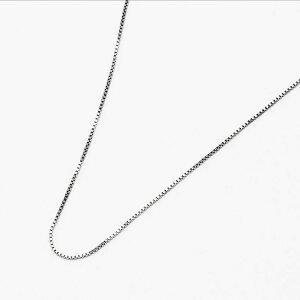 K10WG ベネチアチェーン ネックレス 40cm 10金 ホワイトゴールド 細身 シンプル 重ね付け フォーマル 職場 レディース