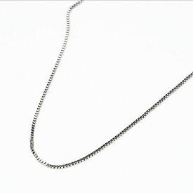 K18WG ベネチアチェーン ネックレス 45cm フリースライド式 調節可 18金 ホワイトゴールド 細身 シンプル フォーマル レディース