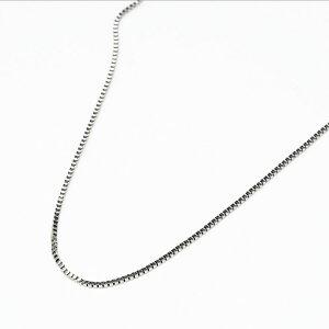 K18WG ベネチアチェーン ネックレス 40cm 18金 ホワイトゴールド 細身 シンプル 重ね付け フォーマル 職場 レディース