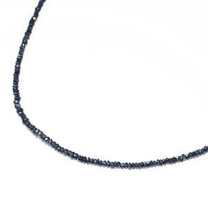 天然サファイアロンデルネックレス43cm青玉蒼玉sapphire