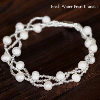 淡水珍珠磁铁风格手链淡水珍珠手链