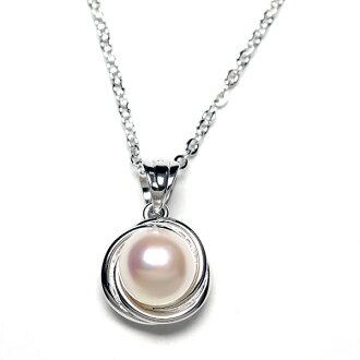 Akoya this Pearl design pendant necklace / Akoya pearl / / Pearl pendant / jewelry ladies j /