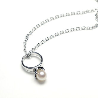 Silver 925 pearl oyster pearl baby pearl petit ring pendant necklace Lady's