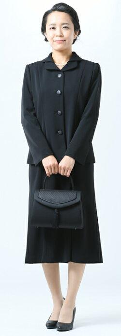 ブラックフォーマルバッグ:RA-17522(箱入り)【日本製】【博多織】マチ大きめ黒弔事慶事冠婚葬祭女性用レディース婦人葬式葬儀法事通夜法要