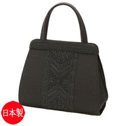 ブラックフォーマルバッグ:RA-17790(箱入り)【日本製】【刺繍入り】大きめ黒弔事慶事冠婚葬祭女性用レディース20Aug16