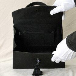 ブラックフォーマルバッグ:RA-17522(箱入り)【日本製】【博多織】マチ大きめ黒弔事慶事冠婚葬祭女性用レディース20Aug16