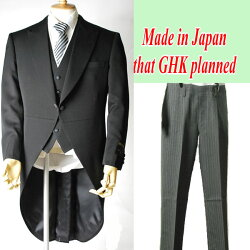 *サマー・日本製*夏服のモーニングコート3P:R17602-15000:モーニングコート&ベスト&パンツ3点セット