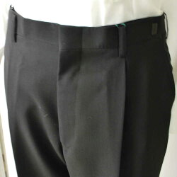 *夏用*フォーマルブラックスーツRM84026ダブル略礼服、喪服:4B×1★パンツ裾未処理