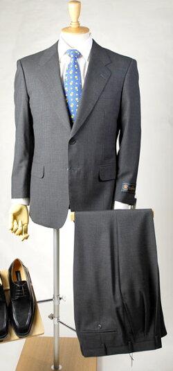 【国産・春夏ドーメル服】ビジネススーツと洋服用キャリーバッグ(ハンガー付き:ブラック色)の福袋【シングル2B上下服】メンズ紳士オフィスビジネスウェアフォーマルメンズファッション