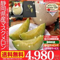 店長激オシ送料無料!母の日特製ラッピング「静岡高級アローマメロン」