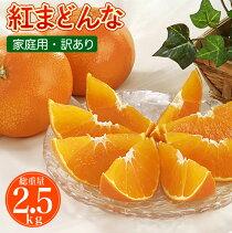 送料無料愛媛産みかん紅まどんな2.5kg訳あり家庭用柑橘の新品種ゼリーのようなプルプル果肉紅マドンナ