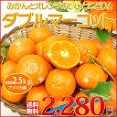 送料無料 みかんとオレンジいいとこどり!絶対おすすめ「ダブルマーコット」2.5kg