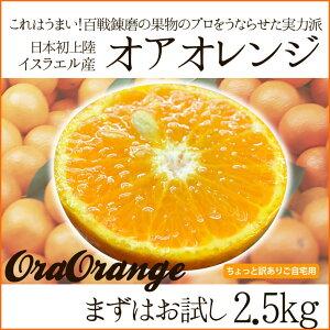 送料無料 みかん感覚で食べられるオアオレンジ 2.5kg(オラオレンジ) イスラエル産
