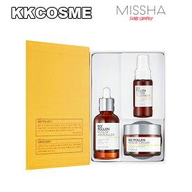 MISSHA/ミシャ ビーポーレン リニュー 2種企画セット アンプラー+クリム+トリートメント/BEE POLLEN RENEW 2item set 正規品 韓国コスメ