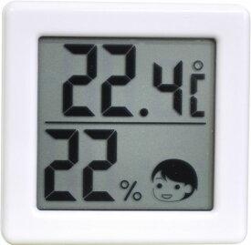 【送料無料メール便専用】 ドリテック 小さいデジタル温湿度計 ホワイト O-257WT