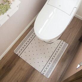 オカトー PVC 拭ける&抗菌・防臭 北欧風トイレマット 55×60