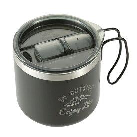 パール金属 UE-4912 モンテ ダブルステンレスマグカップ用フラップ ブラック