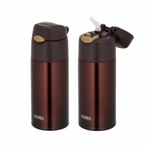 送料無料 サーモス 真空断熱ストローボトル400ml ブラウン FHL-400-BW ステンレスボトル 保冷専用です。