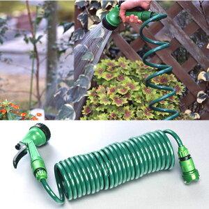 ガーデンコイルホース レギュラー グリーン