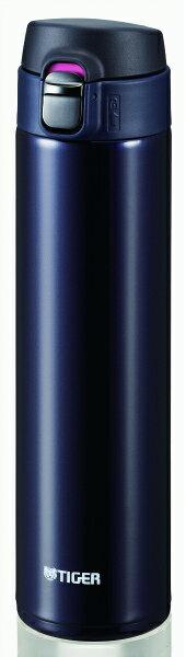 送料無料 タイガー ワンタッチステンレスボトル600ml ブルーブラック MMJ-A060KA