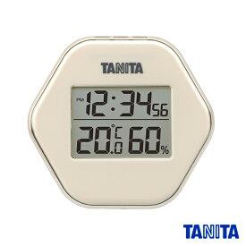 【送料無料メール便専用】タニタ TT573IV デジタル温湿度計 アイボリー