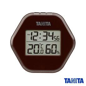 【送料無料メール便専用】タニタ TT573BR デジタル温湿度計 ブラウン