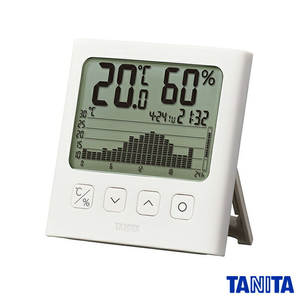 送料無料 タニタ TT580WH グラフ付きデジタル温湿度計 ホワイト