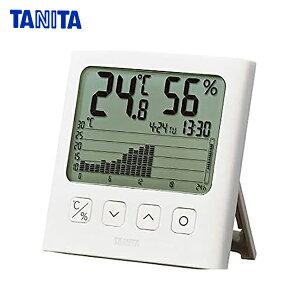 送料無料 タニタ TT581WH グラフ付きデジタル温湿度計 ホワイト