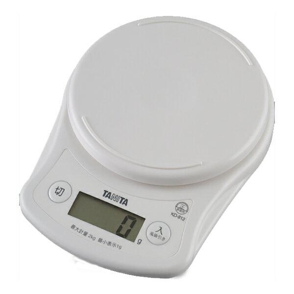 【送料無料メール便専用】 タニタ デジタルクッキングスケール2kg ホワイト KD-812WH