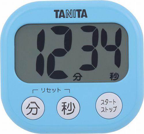 【送料無料メール便専用】 タニタ でか見えタイマー アクアミントブルー TD-384BL