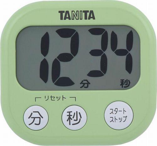【送料無料メール便専用】 タニタ でか見えタイマー ピスタチオグリーン TD-384GR