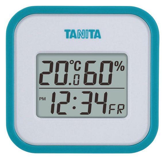 送料無料 タニタ デジタル温湿度計 ブルー TT-558BL