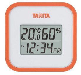 送料無料 タニタ デジタル温湿度計 オレンジ TT-558OR