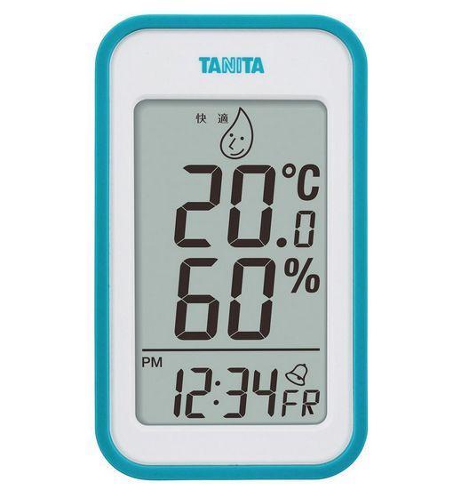 【送料無料メール便専用】 タニタ デジタル温湿度計 ブルー TT-559BL