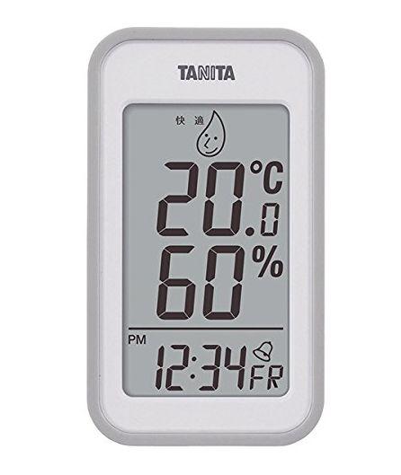 【送料無料メール便専用】 タニタ デジタル温湿度計 グレー TT-559GY