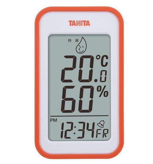 【送料無料メール便専用】 タニタ デジタル温湿度計 オレンジ TT-559OR