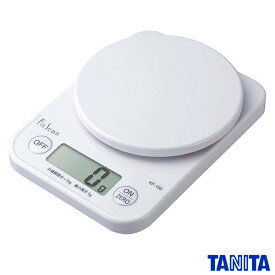 タニタ デジタル クッキングスケール キッチンスケール 1kg/1g ホワイト KF-100-WH