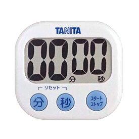 【送料無料メール便専用】 タニタ でか見えタイマー ホワイト TD-384WH