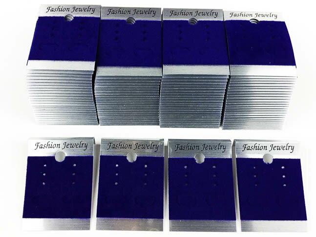 ピアス 台紙 100枚 シルバー 50mmx37mm 銀色 ベロア 紫 パープル イヤリング 台紙 (AP0409)