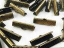 紐止め金具 ワニ口 50個 金古美 アンティークゴールド 25mm (AP0571)