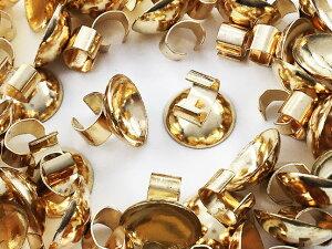 台座 ヘアゴム 用 金具 ゴールド KC金 40個 お碗型台座12mm ガラスドーム 等 ゴム留め (AP0875)