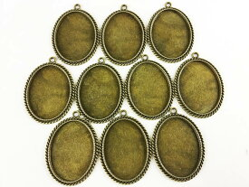 ミール皿 楕円 金古美 10枚  アンティークゴールド (AP0136)