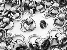 トチカン ネジ式 丸カン 付き シルバー 30組 ドロップハンドル 留め具 金具 スマホケース アクセサリーパーツ AP0952