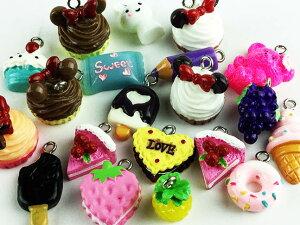 スイーツチャーム お菓子 フルーツ ミックス アクセサリーパーツ ハンドメイドパーツ (AP0418)