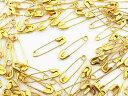 安全ピン 100個 22mm ゴールド スナッピン アクセサリーパーツ ハンドメイドパーツ (AP0483)