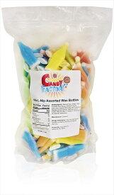 【ボトル、スティックセット】Sarah's Candy Factory Nik-L-Nip Assorted Wax Bottles in Resealable Bag, 1.36kg 海外直送品 ワックスボトル ワックススティック キャンディー ニックルニップ ワックスキャンディー