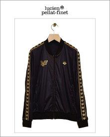 """【全品P2倍】【lucien pellat-finet""""Arena‐Leaf""""ジャージ/black&gold】"""