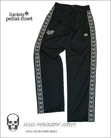 """【全品P2倍】【lucien pellat-finet""""Arena‐Skull""""Pants/black&silver】"""